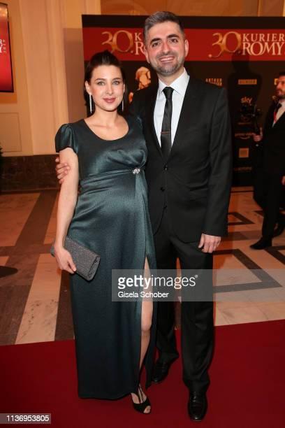 Martina Ebm and her partner Umut Dag during the ROMY award at Hofburg Vienna on April 13 2019 in Vienna Austria