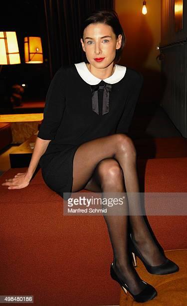 Martina Ebm poses during the 'Vorstadtweiber' photo call at 25Hours Hotel Vienna on November 23 2015 in Vienna Austria