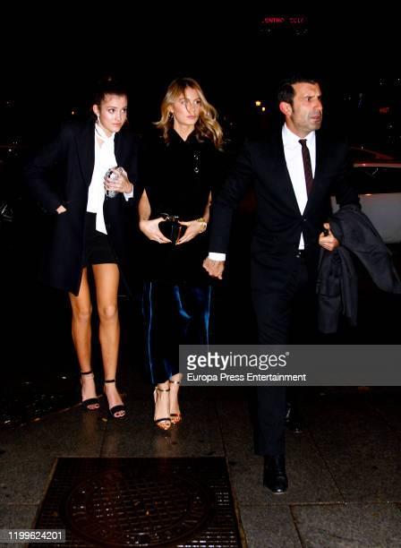Martina Figo Svedin Daniela Figo Svedin and Luis Figo are seen on December 12 2019 in Madrid Spain