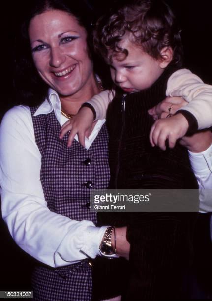 Martina Fraisser wife of the Spanish bullfighter Manuel Benitez 'El Cordobes' on the birthday of her third son Rafael at his home in Villalobillos...