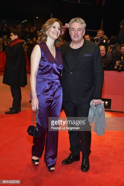 Martina Gedeck and her partner Markus Imboden attend the 'Django' premiere during the 67th Berlinale International Film Festival Berlin at Berlinale...