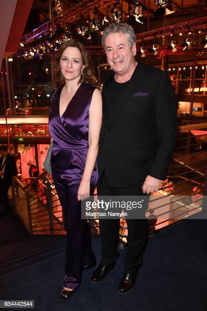 Martina Gedeck and her partner Markus Imboden attend the opening party during the 67th Berlinale International Film Festival Berlin at Berlinale...