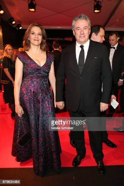 Martina Gedeck and her partner Markus Imboden during the Bambi Awards 2017 at Stage Theater on November 16 2017 in Berlin Germany