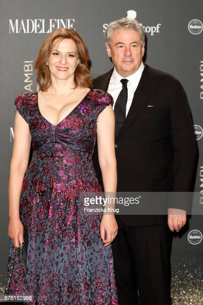 Martina Gedeck and Markus Imboden arrive at the Bambi Awards 2017 at Stage Theater on November 16 2017 in Berlin Germany
