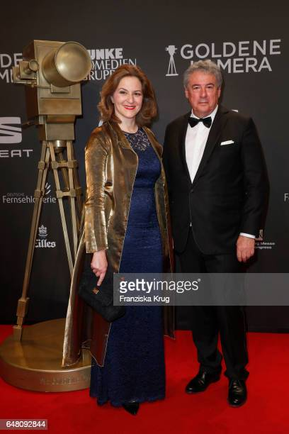 Martina Gedeck and Markus Imboden arrive for the Goldene Kamera on March 4 2017 in Hamburg Germany