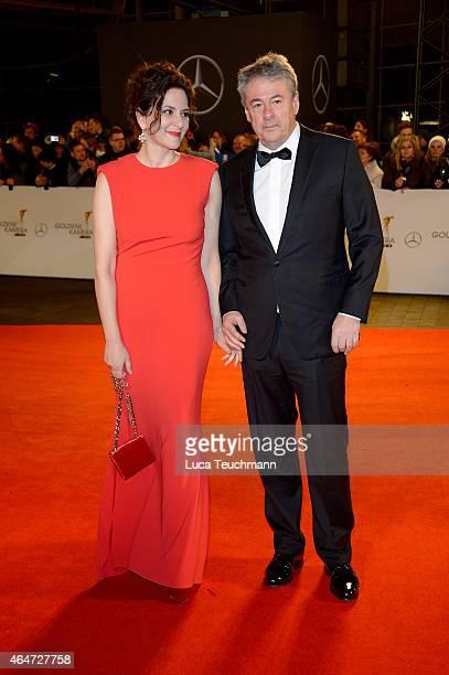 Martina Gedeck and Markus Imboden attend the Goldene Kamera 2015 on February 27 2015 in Hamburg Germany