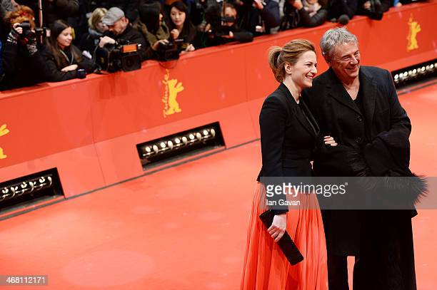 Martina Gedeck and Markus Imboden attend the 'Nymphomaniac Volume I ' premiere during 64th Berlinale International Film Festival at Berlinale Palast...