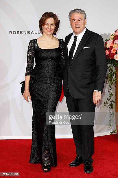Martina Gedeck and Markus Imboden attend the Rosenball 2016 on April 30 in Berlin Germany