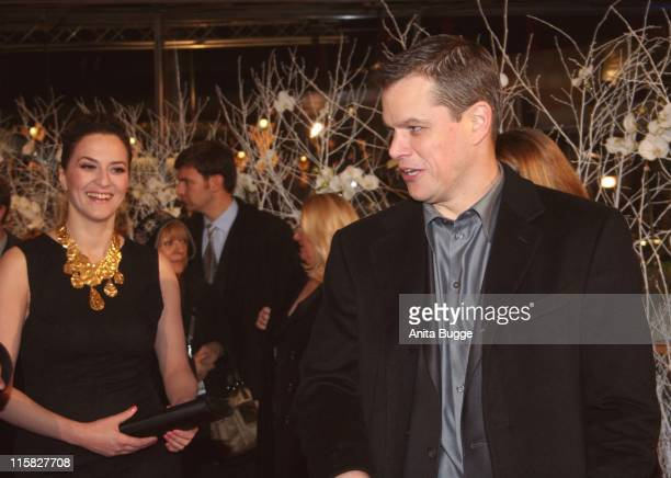 Martina Gedeck and Matt Damon during The 57th Annual Berlinale International Film Festival 'The Good Shepherd' Premiere Inside Arrivals at Berlinale...