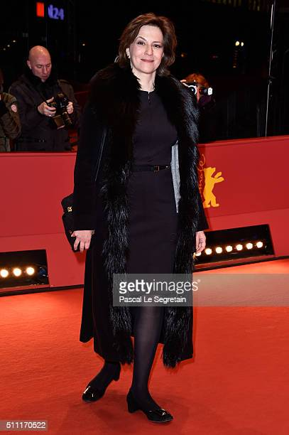 Martina Gedeck attends the 'Hommage For Michael Ballhaus' during the 66th Berlinale International Film Festival Berlin at Grand Hyatt Hotel on...
