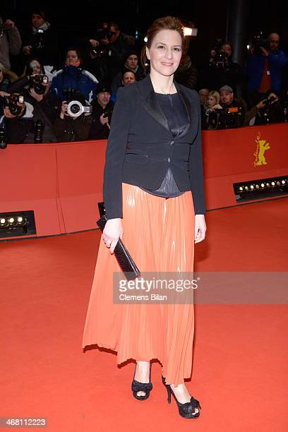 Martina Gedeck attends the 'Nymphomaniac Volume I ' premiere during 64th Berlinale International Film Festival at Berlinale Palast on February 9 2014...