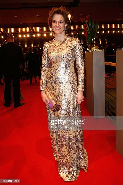Martina Gedeck attends the opening party of the 66th Berlinale International Film Festival Berlin at Berlinale Palace on February 11 2016 in Berlin...