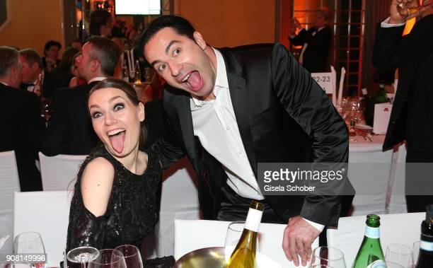 Martina Hill and Buelent Ceylan during the German Film Ball 2018 at Hotel Bayerischer Hof on January 20 2018 in Munich Germany