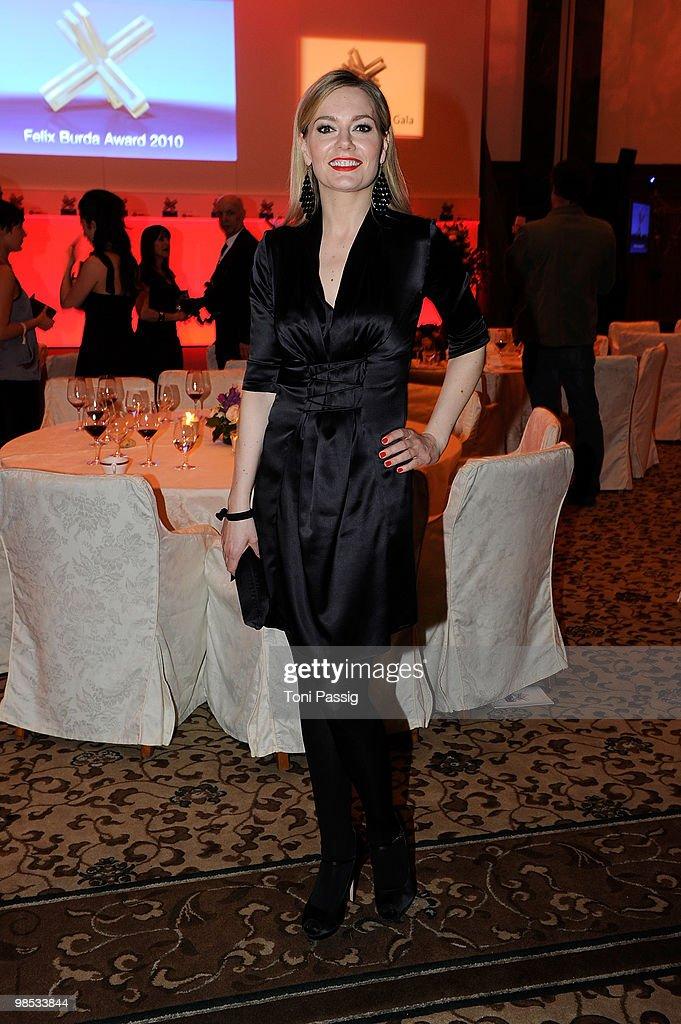 Martina Hill attends the 'Felix Burda Award' at hotel Adlon on April 18, 2010 in Berlin, Germany.