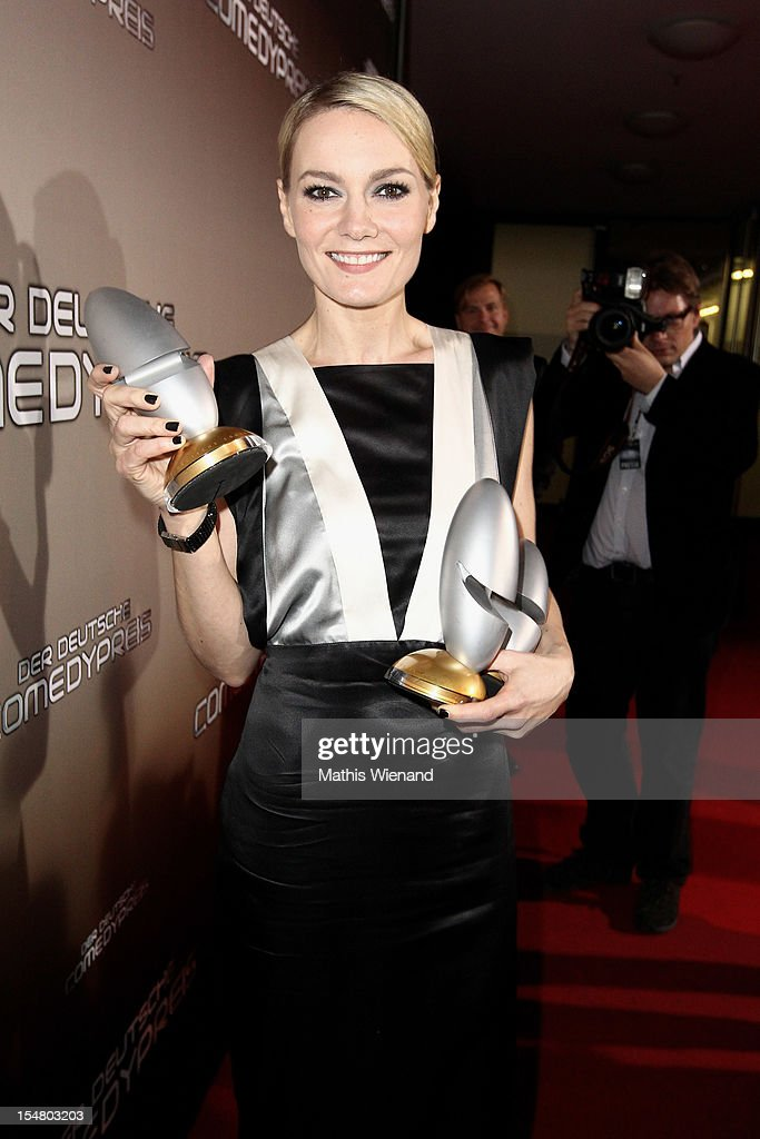 Martina Hill poses with his award at the the '16. Annual German Comedy Award' on October 23, 2012 in Cologne, Germany.