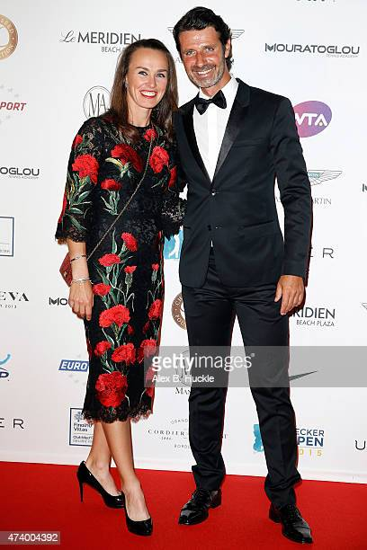 Martina Hingis and Patrick Mouratoglou attend the Champ'Seed party on May 19 2015 in Monaco Monaco
