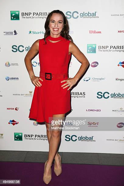 Martina Hingis attends Singapore Tennis Evening during BNP Paribas WTA Finals at Marina Bay Sands on October 30 2015 in Singapore