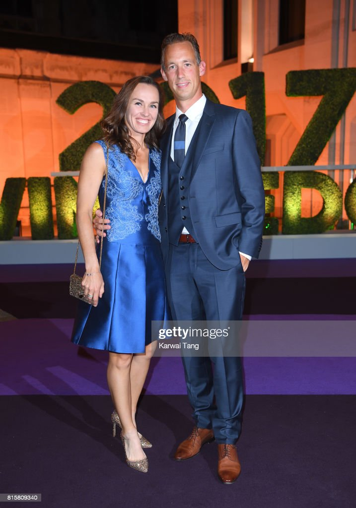 Martina Hingis attends the Wimbledon Winners Dinner at The Guildhall on July 16, 2017 in London, England.