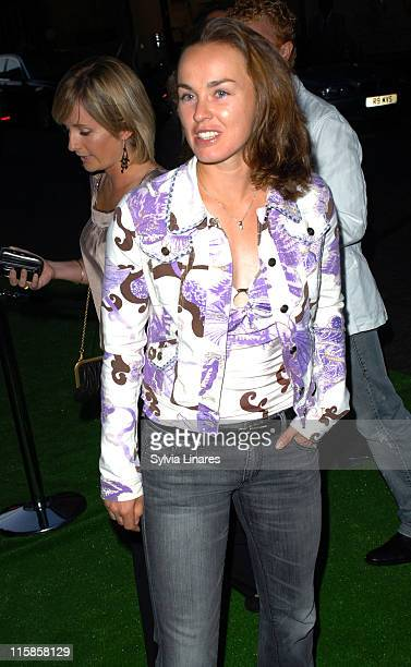 Martina Hingis during PreWimbledon Party Departures at Kensington Roof Gardens in London Great Britain