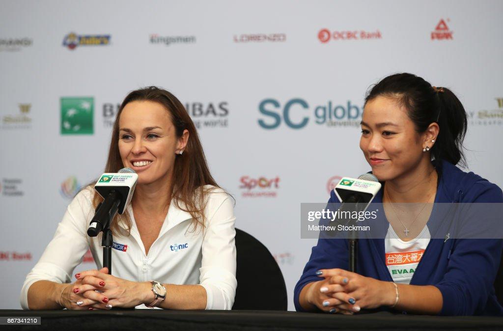 BNP Paribas WTA Finals Singapore presented by SC Global - Day 7 : News Photo