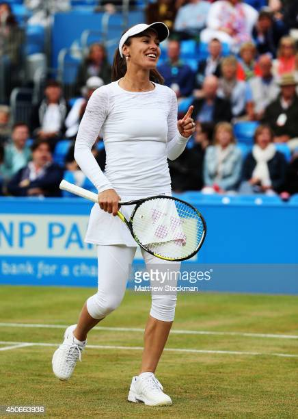 Martina Hingis plays in a 'Rally for Bally' charity event on day seven of the Aegon Championships at Queens Club on June 15 2014 in London England...