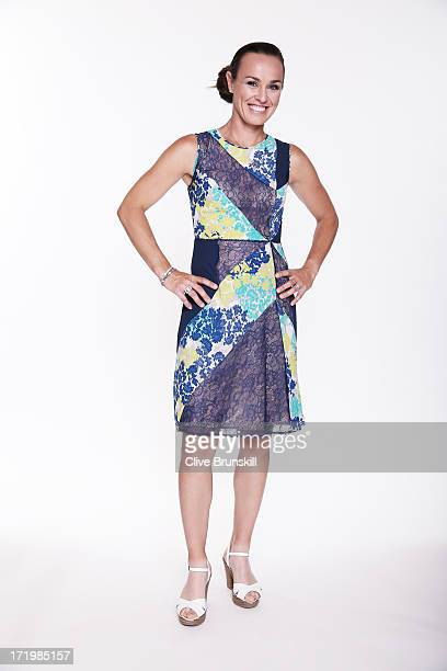 Martina Hingis poses for an exclusive photoshoot during the WTA 40 Love Celebration on Middle Sunday of the Wimbledon Lawn Tennis Championships at...