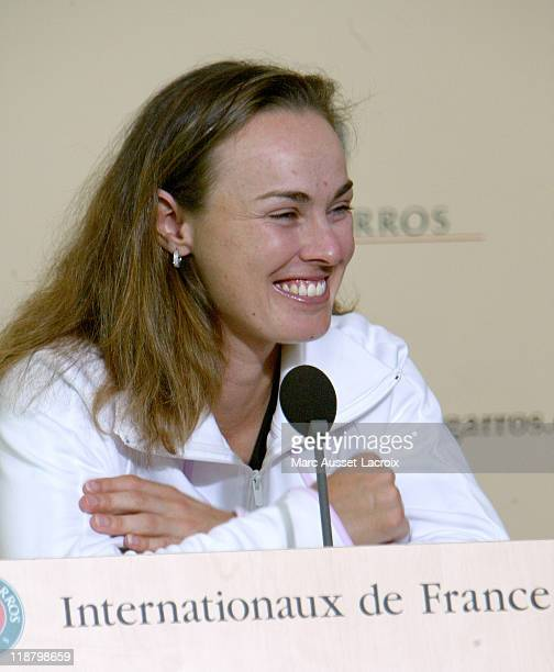 Martina Hingis press conference after her victory against Sharar Peer at the French Open in Paris on June 5 2006