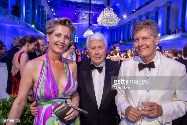 Martina Hohenlohe Peter Weck Karl Hohenlohe during the Fete Imperiale 2018 on June 29 2018 in Vienna Austria