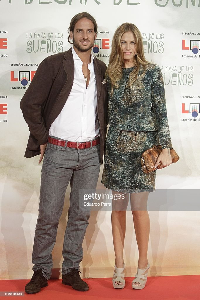 Martina Klein and Feliciano Lopez attend 'La plaza de los suenos' photocall at Callao square on September 21, 2011 in Madrid, Spain.