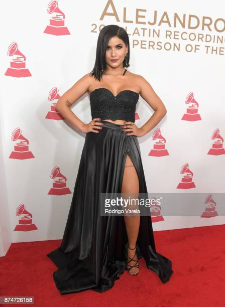 Martina La Peligrosa attends the 2017 Person of the Year Gala honoring Alejandro Sanz at the Mandalay Bay Convention Center on November 15, 2017 in...