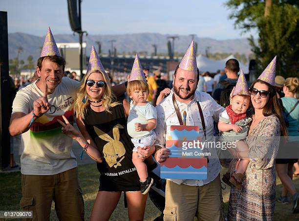 Martina Lolato celebrates her first birthday with her mother Juliana and friends and family during Desert Trip at the Empire Polo Field on October 9...
