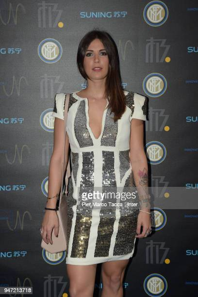 Martina Luchena attends the unveiling of FC Internazionale 'Innovative Passion' Concept At Milan Design Week on April 16 2018 in Milan Italy