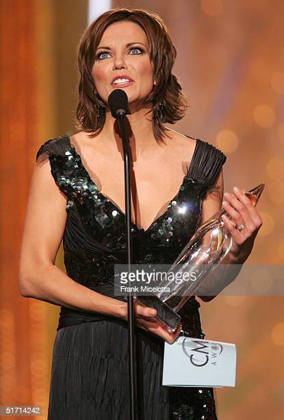 Martina McBride accepts her award for Female Vocalist of the Year on stage at the 38th Annual CMA Awards at the Grand Ole Opry House November 9 2004...