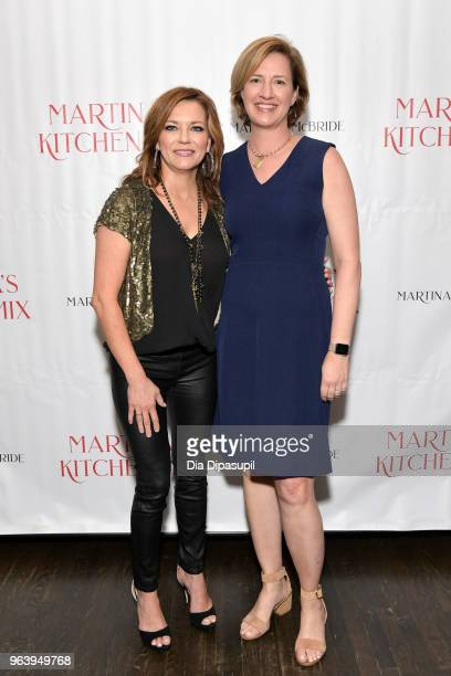 Martina McBride and editor Katherine Cobbs attend Martina McBride Announces Forthcoming Cookbook Martina's Kitchen Mix at Chef's Club on May 30 2018...