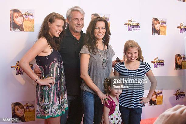 Martina McBride and family attend a VIP screening of Hannah Montana at Regal Cinema in Green Hills on April 9 2009 in Nashville Tennessee