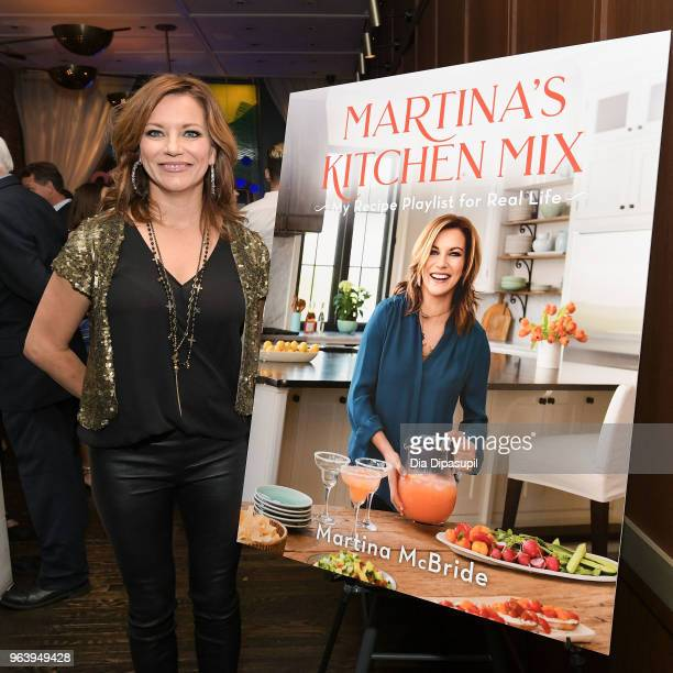 Martina McBride attends Martina McBride Announces Forthcoming Cookbook 'Martina's Kitchen Mix' at Chef's Club on May 30 2018 in New York City
