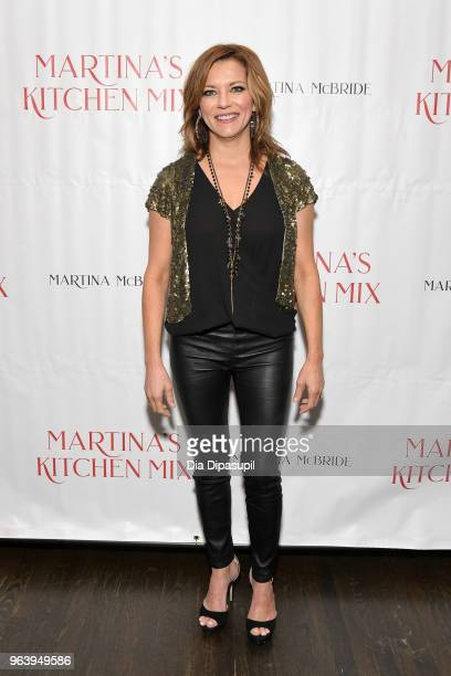 Martina McBride attends Martina McBride Announces Forthcoming Cookbook Martina's Kitchen Mix at Chef's Club on May 30 2018 in New York City
