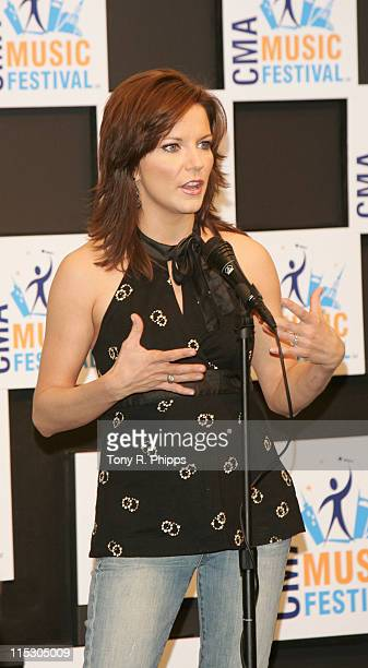 Martina McBride during CMA Music Festival Press Conference Room at CMA Nightly Press Conference Room at The Coliseum in Nashville Tennessee United...