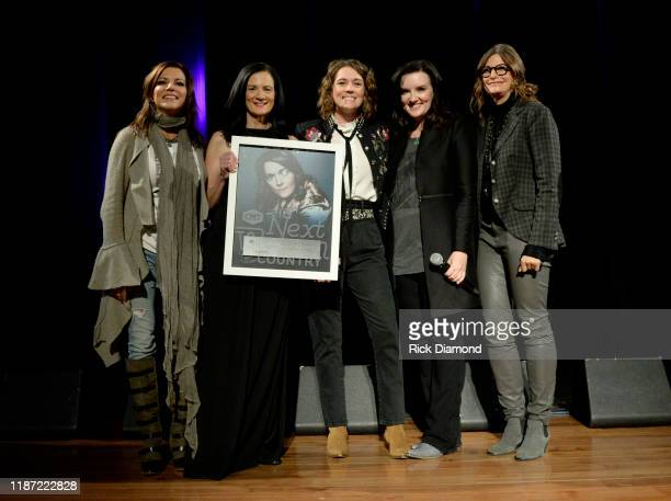 Martina McBride, Leslie Fram, Brandi Carlile and Tracy Gershon attend the 2019 CMT Next Women Of Country Celebration at CMA Theater at the Country...