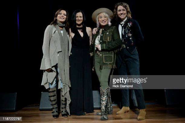 Martina McBride, Leslie Fram, Tanya Tucker and Brandi Carlile attend the 2019 CMT Next Women Of Country Celebration at CMA Theater at the Country...