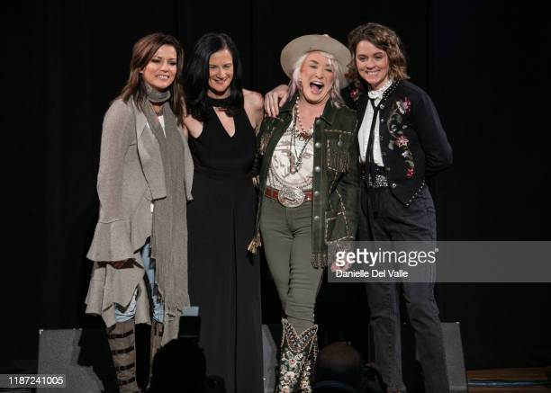Martina McBride, Leslie Fram, Tanya Tucker and Brandi Carlile seen onstage during the 2019 CMT Next Women Of Country at CMA Theater at the Country...