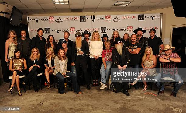 Martina McBride Miranda Lambert Carrie Underwood Miley Cyrus Billy Ray Cyrus Frank Beard of ZZ Top Dusty Hill of ZZ Top Julie Roberts and Jason...