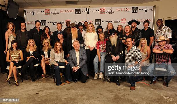 Martina McBride Miranda Lambert Carrie Underwood Miley Cyrus Billy Ray Cyrus Frank Beard of ZZ Top Dusty Hill of ZZ Top head coach of the Tennessee...