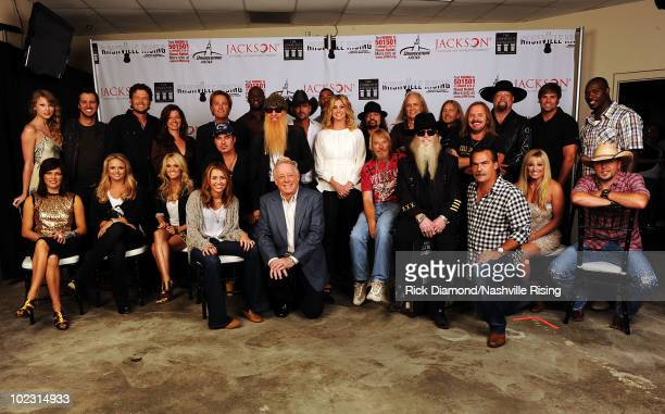 Martina McBride Miranda Lambert Carrie Underwood Miley Cyrus Billy Ray Cyrus Governor of Tennessee Phil Bredesen Frank Beard of ZZ Top Dusty Hill of...
