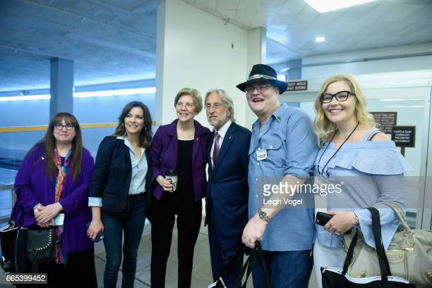 Martina McBride Sen Elizabeth Warren President of National Academy of Recording Arts and Sciences Neil Portnow John Popper and Jordan Popper at The...