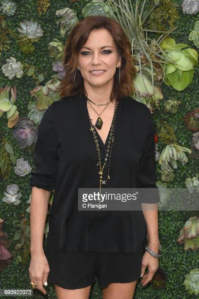 Martina McBride tries out the new Samsung Galaxy S8 during the Samsung Women in Country x Change The Conversation Dinner on June 8 2017 at Henrietta...