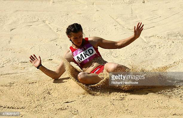 Martina Miroska of Macedonia competes in the Women's Long Jump during day ten of the Baku 2015 European Games at the Olympic Stadium on June 22 2015...