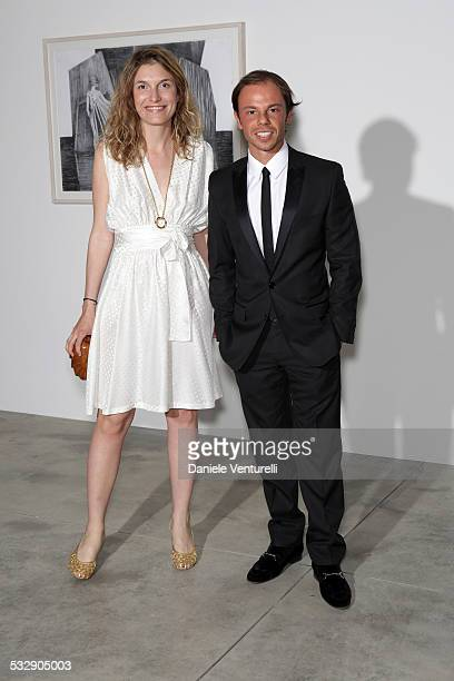 Martina Mondadori and Nicolo Cardi attend the Michal Helfman opening exhibition at the Cardi Black Box on April 15 2009 in Milan 2009