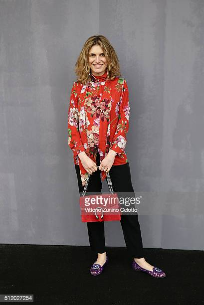 Martina Mondadori attends the Gucci show during Milan Fashion Week Fall/Winter 2016/17 on February 24 2016 in Milan Italy
