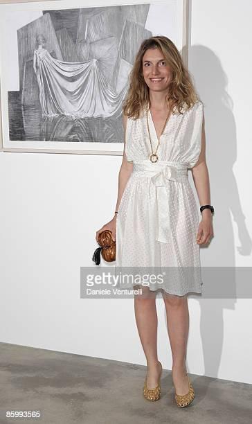 Martina Mondadori attends the Michal Helfman opening exhibition at the Cardi Black Box on April 15 2009 in Milan 2009